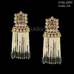Designer Ethnic Pearl Tassel Earring