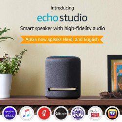 Echo Studio Smart Speaker With High-Fidelity Audio And Alexa (Black)