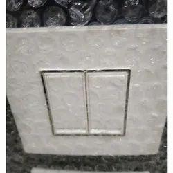Polycarbonate White 2 Module Modular Electric Switch, 16 A, 110 - 220 V