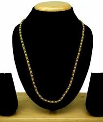 Women Simple Design Forming gold plated Chain