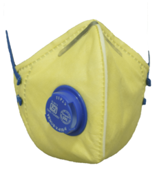 Cotton Grey & Yellow Safety Nose Mask