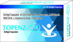 Softgel Capsules of Co-Enzyme Q10 Lycopene Multivitamin