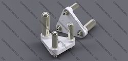 3 Pin Insert With Earth Pin Hollow