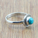 925 Sterling Silver Jewelry Turquoise Gemstone Light Weight Ring Wr-5048