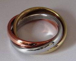 Natural Polish Messing International Napkin Ring, Size: Standard, Packaging Type: Poly Bag