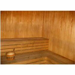 Brown Cabinet Sauna Bath
