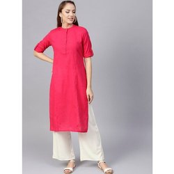 Casual Plain Cotton Kurti