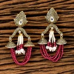 Kundan Classic Earring With Gold Plating 350285