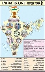 India Is One For National Integration Chart