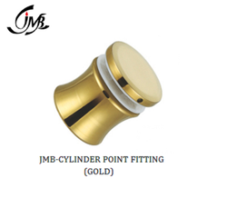 Stainless Steel Gold Cylinder Point Fitting For Glass Railing