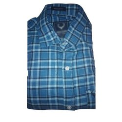 Check Slim Fit Mens Cotton Casual Shirt, Size: M-xl