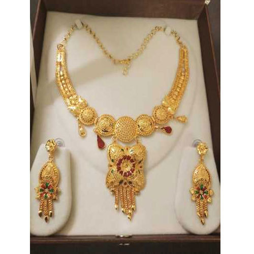 77b4212a17e61 Gold Plated Jewelry Necklace Set