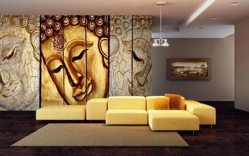 Vinyl Buddha Wallpaper Size Custom