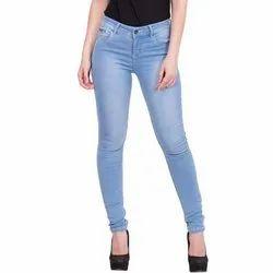 ab0548763b Stretchable Ladies Slim Fit Blue Denim Jeans, Waist Size: 28-42 Inch ...