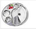 Steel 5 Compartment Round Plate