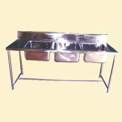 Hotel Resources Ss Commercial 3 Sink Dish Wash Unit