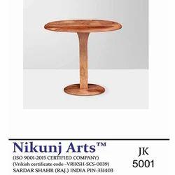 Nikunj Arts Brown Wooden Oval Table