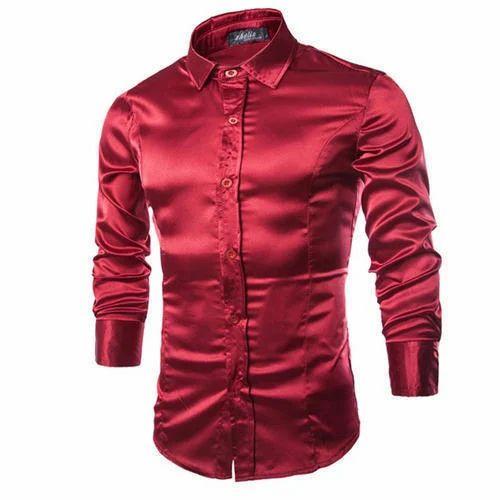 d6c6d916f18b7f Maroon Plain Mens Full Sleeves Shirt
