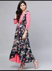 Party Wear Printed Long Floral Dresses