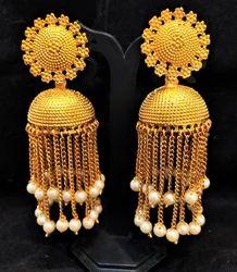 Designer Jhumka Chain Earrings