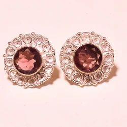 925 Sterling Rose Gold Earring