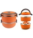 Orange  2 Layer Lunch Box