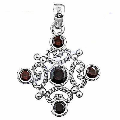 Famous designer silver pendant with garnet at rs 549 piece famous designer silver pendant with garnet aloadofball Choice Image