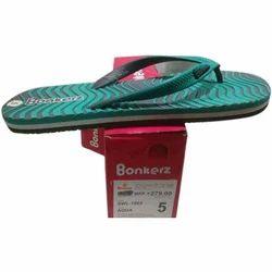 Bonkerz Rubber Comfort Flat Slipper, Size: 5 -10 UK