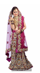 Pompadour Purple Lehenga With Dense