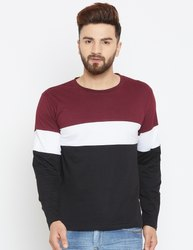 Men Full Sleeves Striped Cotton T-Shirt