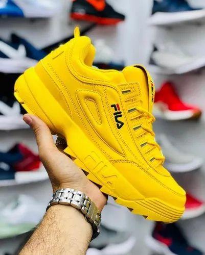 mens yellow filas