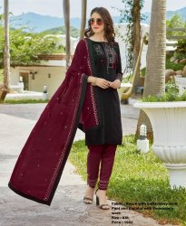 Hansini Churidar Dress Set Stitched With Dupatta