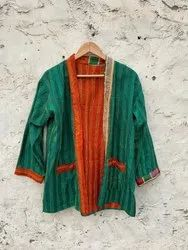 Silk Kantha Embroidery jacket