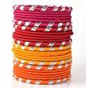 Multicolor Girls Trendy Silk Thread Bangles
