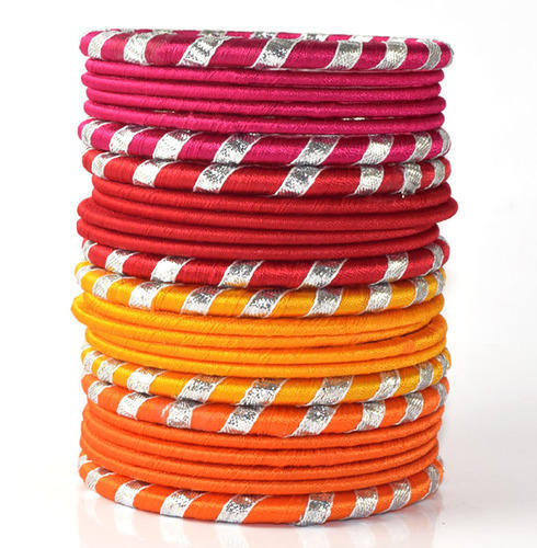 Girls Trendy Silk Thread Bangles