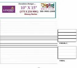 Lexomo Digital Printing White Tiles, Packaging Type: Box