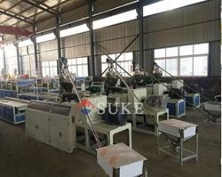 PVC Wood Plastic WPC Profile and Board Extruder Production