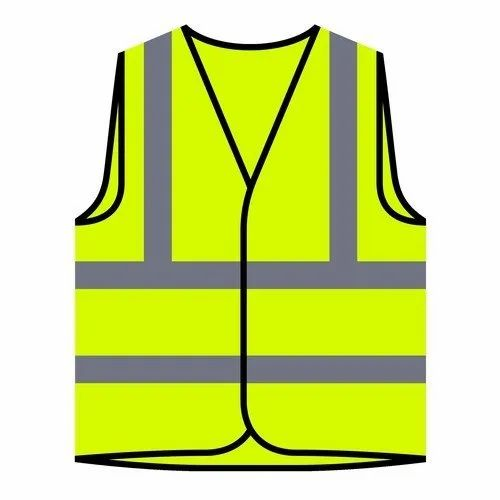 Without Sleeves Unisex Safety Jacket, For Construction