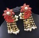 Multicolor Brass Meenakari Pearl Jukhi Earring