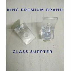 King Premium Glass Shelf Support With Sucker