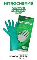 Flock lined Nitrile Industrial Hand Gloves