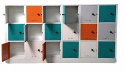 Hinged Mild Steel Colorful MS Locker, No Of Lockers: 18