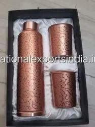 Meena Copper Bottle Set