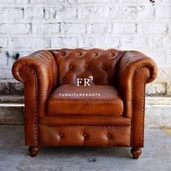 Hotel Sofas - Vintage Chesterfield Armchair - Resort Furniture Armchairs - Restaurant Sofa Armchair