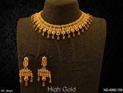 Golden Fusion Ruby Green Necklaces