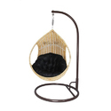 Carry Bird Single Seater Cane Swing, Beautiful Honey Color