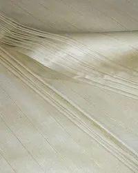 Plain Muga Silk Hand Woven Fabrics With Golden Zari