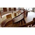 Hardwood Brown Designer Wooden Staircase