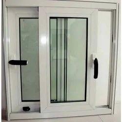 2 Track Rectangular Aluminium Sliding Window