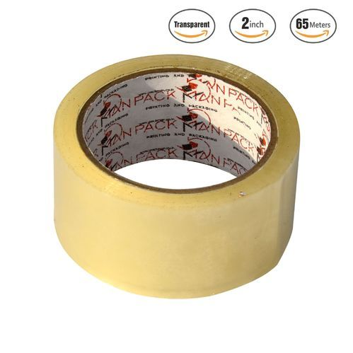 Packman Transparent 72 Mm 3 Inches Self Adhesive Tape X 65 Meter Length 40